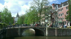 Amsterdam bridge and traffic (timelapse) Stock Footage