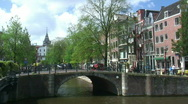 Stock Video Footage of Amsterdam bridge and traffic (timelapse)