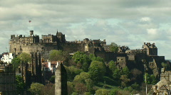 Edinburgh Castle Zoom out 2 Stock Footage