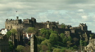 Stock Video Footage of Edinburgh Castle Zoom out 2