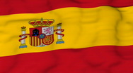 Stock Video Footage of Flying flag of Spain
