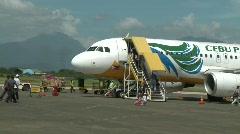 Passengers boarding Cebu aircraft Stock Footage
