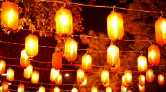The Chinese small lamps - stock footage
