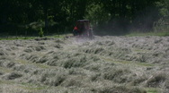 Stock Video Footage of Hay racking with a tractor