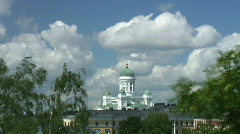 Helsinki Cathedral, Finland (timelapse) Stock Footage