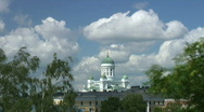 Stock Video Footage of Helsinki Cathedral, Finland (timelapse)