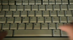 Typing on Keyboard with Two Hands Stock Footage