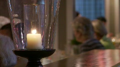 Restaurant candle (P5) - stock footage
