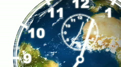 Earth Clock Time Stock Footage