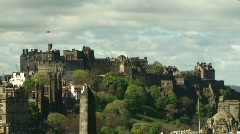 Edinburgh Castle Zoom out Stock Footage