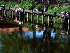 By the River Stock Footage