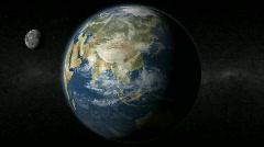 Earth India Moon - stock footage