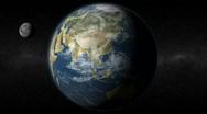 Earth India Moon Stock Footage