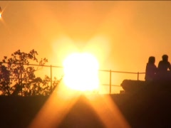 Sunset Hill Stock Footage