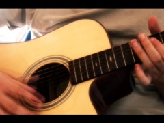 Guitar Strum Stock Footage