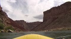 Colorado river grand canyon flat water from oar boat Stock Footage