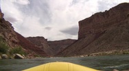 Stock Video Footage of colorado river grand canyon flat water from oar boat