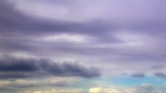 Violet Clouds Stock Footage