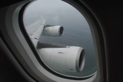 plane window during storm 1 - stock footage