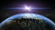 Earth Space Station Stock Footage