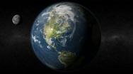 Earth North America Moon Stock Footage