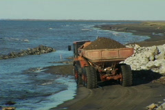 seawall construction 1 - stock footage