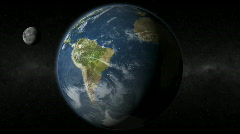 Earth South America Moon Stock Footage