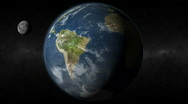 Stock Video Footage of Earth South America Moon