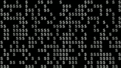 Dollar Signs Editors Element  Stock Footage