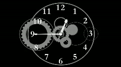 Clock and Gears Editors Element  Stock Footage