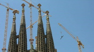 Stock Video Footage of La SAgrada Familia by Antoni Gaudi - Barcelona