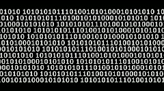 Editors Element binary code  Stock Footage