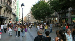 Shopping in Barcelona Stock Footage