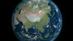 Drought spreading in Asia Stock Footage