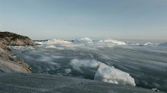 Drifting Icebergs in Greenland - stock footage