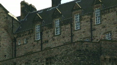 Zoom out from Edinburgh Castle Stock Footage