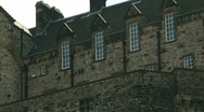 Stock Video Footage of Zoom out from Edinburgh Castle