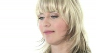 Stock Video Footage of HD1080i Young blond business woman with mobile phone.