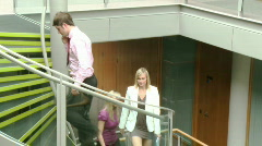 Business team going upstairs footage Stock Footage