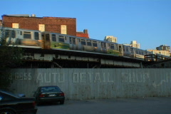 Chicago L Train 01 Stock Footage