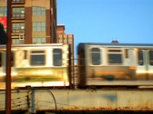 Chicago L Train 05 Stock Footage
