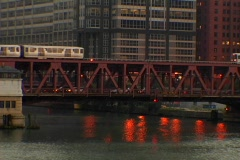 Chicago L Train 09 Stock Footage