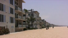 Houses on the beach in Marina Del Rey, California Stock Footage