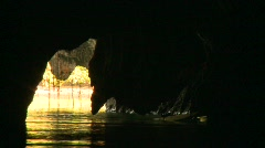 Palawan underground river 13 Stock Footage