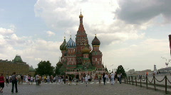 St. Basil Cathedral . Red Square - stock footage