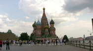 St. Basil Cathedral . Red Square Stock Footage