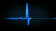 Stock Video Footage of Heart EKG Flatlines 815