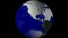 Breaking News Globe, Blue w/ Alpha (24fps) Stock Footage