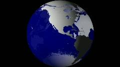 Breaking News Globe, Blue w/ Alpha (25fps) Stock Footage