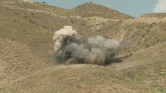 Mine explosion in Afghanistan (HD) m Stock Footage